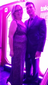 Donna with Tjay Spencer at Starwood Academy Awards Event